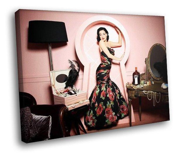Dita Von Teese Sexy Model Beauty 50x40 Framed Canvas Art Print
