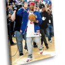 Allen Iverson Basketball Player NBA All Star Sport 50x40 Framed Canvas Art Print