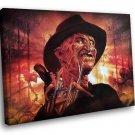 A Nightmare On Elm Street Freddy Krueger Movie 50x40 Framed Canvas Art Print
