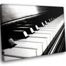 Piano Keyboard Music Black White Home D Cor 50x40 Framed Canvas Art Print