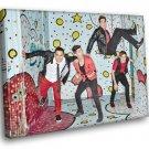 Big Time Rush Pop Band Music 40x30 Framed Canvas Print
