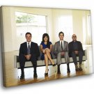 White Collar Cast Characters TV Series 40x30 Framed Canvas Print