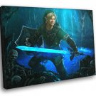 The Legend Of Zelda Link Sword Fantasy Art 40x30 Framed Canvas Print