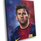 Leo Messi Painting Art Portrait FC Barcelona Soccer 40x30 Framed Canvas Print