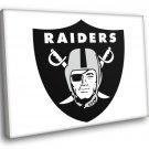 Oakland Raiders Football Logo Hockey Sport Art 40x30 Framed Canvas Print