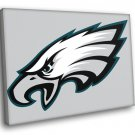 Philadelphia Eagles Football Logo Hockey Sport Art 40x30 Framed Canvas Print