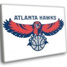 Atlanta Hawks Logo Basketball Sport Art 40x30 Framed Canvas Print