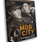 Mob City TV Series Frank Darabont Jon Bernthal 40x30 Framed Canvas Print