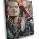 Inglourious Basterds Movie Aldo Raine Apache Art 40x30 Framed Canvas Print