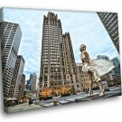 Chicago Marilyn Monroe Statue City USA 40x30 Framed Canvas Print