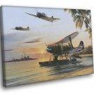 Japanese Aircraft World War 2 Military Painting 40x30 Framed Canvas Print