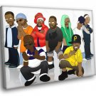 Wu Tang Clan Art Hip Hop Rap Music 40x30 Framed Canvas Print