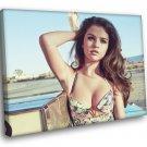 Selena Gomez Beautiful Hot Cute Singer Actress 40x30 Framed Canvas Print