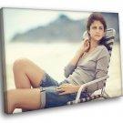 Selena Gomez Cute Beautiful Pop Singer Music 40x30 Framed Canvas Print