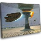 Millennium Falcon X Wing Starfighter Star Wars 40x30 Framed Canvas Print
