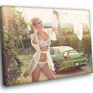 Leonie Hagmeyer Reyinger Nissan Skyline Sexy Babe 40x30 Framed Canvas Print