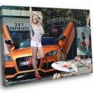 Mandy Lange Audi Hot Sexy Babe Woman Car 40x30 Framed Canvas Print