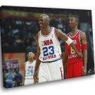 Michael Jordan All Star Game 2003 Basketball 40x30 Framed Canvas Print