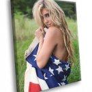 Kesha Hot American Flag Pop Music Singer Rare 40x30 Framed Canvas Print