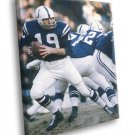 Johnny Unitas Baltimore Colts Football Sport 40x30 Framed Canvas Print