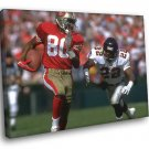 Jerry Lee Rice San Francisco 49ers Football Sport 40x30 Framed Canvas Print