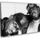8Ball And MJG Awesome BW Retro Rap Hip Hop Duo 40x30 Framed Canvas Print