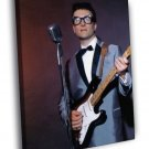 Buddy Holly Guitar Microphone Retro Singer 40x30 Framed Canvas Print