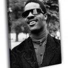 Stevie Wonder Rare BW Portrait Young Retro 40x30 Framed Canvas Print