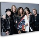 Aerosmith Steven Tyler Awesome USA Flag Retro 40x30 Framed Canvas Print