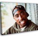 2pac Tupac Shakur Cap Smile Gangsta Rap Rare 40x30 Framed Canvas Print