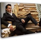 Johnny Depp Suit Books Hot Young Handsome Rare 40x30 Framed Canvas Print