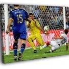 Mario Gotze Goal Final Germany Argentina 2014 40x30 Framed Canvas Print