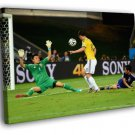 James Rodriguez Shot Goal Colombia World Cup 40x30 Framed Canvas Print