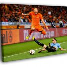 Arjen Robben Sliding Tackle The Netherlands 40x30 Framed Canvas Print