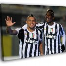 Arturo Vidal Paul Pogba FC Juventus Football 40x30 Framed Canvas Print