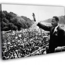 MLK Martin Luther King Jr Crowd Old Retro BW 40x30 Framed Canvas Print