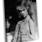 Jane Fonda Actress Hot Sexy Vintage BW 40x30 Framed Canvas Print