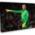 Tim Howard Everton USA Football Soccer 40x30 Framed Canvas Print