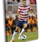 Clint Dempsey USA Football Soccer Sport 40x30 Framed Canvas Print