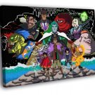 Captain Planet And The Planeteers Characters 40x30 Framed Canvas Print