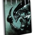 Aliens Xenomorph Dark Creepy Art 40x30 Framed Canvas Print