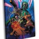 Boba Fett Mandalorian Bounty Hunter Star Wars 40x30 Framed Canvas Print