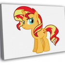 Sunset Shimmer My Little Pony Friendship Cute 40x30 Framed Canvas Print