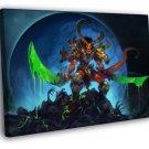 Awesome Dark Science Fantasy Demon Art Skulls 40x30 Framed Canvas Print