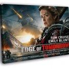 Edge Of Tomorrow Emily Blunt Movie 40x30 Framed Canvas Print
