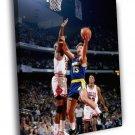 Sarunas Marciulionis Golden State Warriors 40x30 Framed Canvas Print