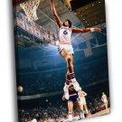 Julius Erving Dr J Dunk Philadelphia 76ers 40x30 Framed Canvas Print