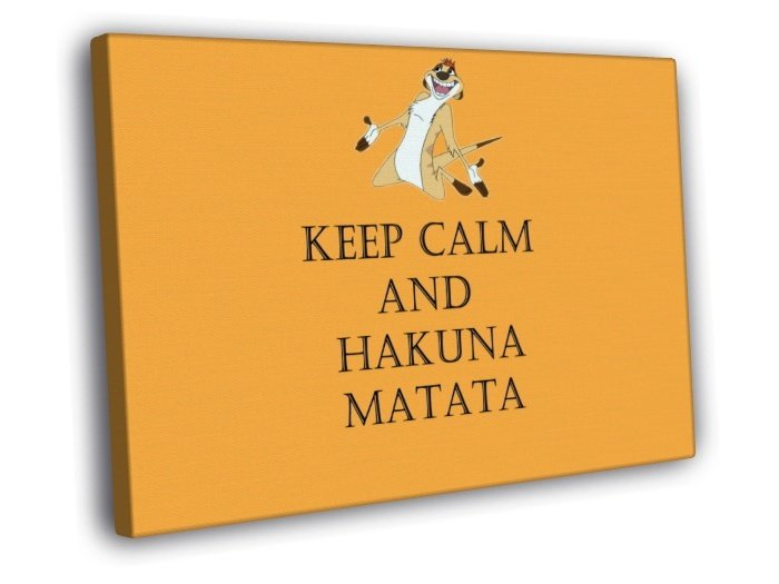 Keep Calm And Hakuna Matata Timon And Pumbaa 40x30 Framed Canvas Print