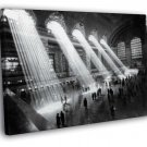 NYC Grand Central Station 1929 Retro New York 40x30 Framed Canvas Print