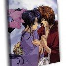 Rurouni Kenshin Samurai X Himura Kenshin Kaoru 40x30 Framed Canvas Print